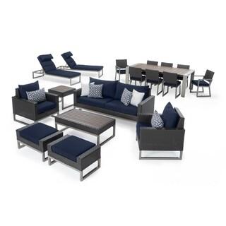 Milo Espresso 18pc Estate Set in Navy Blue by RST Brands