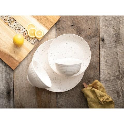 Sango Siterra White 16 Piece Dinnerware Set, Service for 4