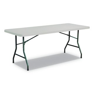 Alera Rectangular Plastic Folding Table, Gray