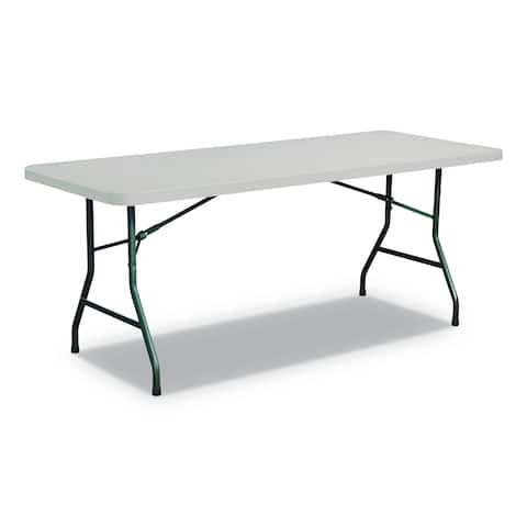 Alera Rectangular Plastic Folding Table, Gray
