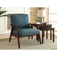 Carson Carrington Karkkila Mid-century Arm Chair in Klein Azure (As Is Item)