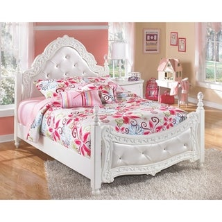 Exquisite White Youth Poster Bed