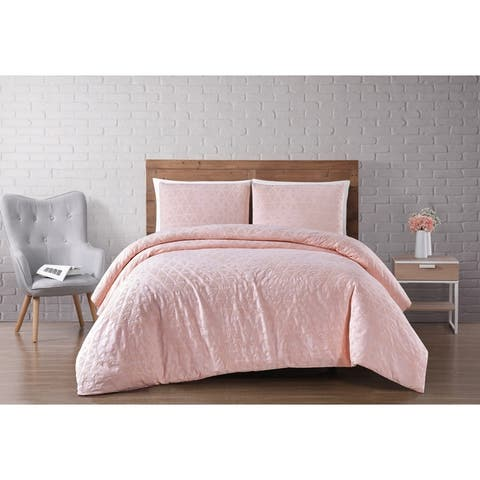 Carson Carrington Castlerock Woven Diamond 3-piece Duvet Cover Set