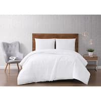 Silver Orchid Christopherson Stripe 3-piece Duvet Cover Set