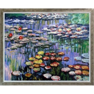 Claude Monet 'Water Lilies' (pink) Hand Painted Oil Reproduction