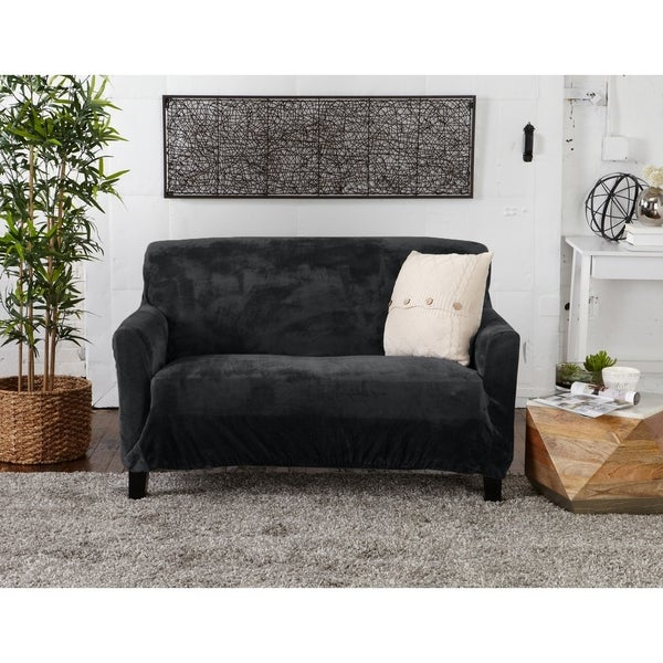 Sofa//Couch+Loveseat Covers NAVY JERSEY STRETCH FIT 2 Pc Furniture Slipcover Set