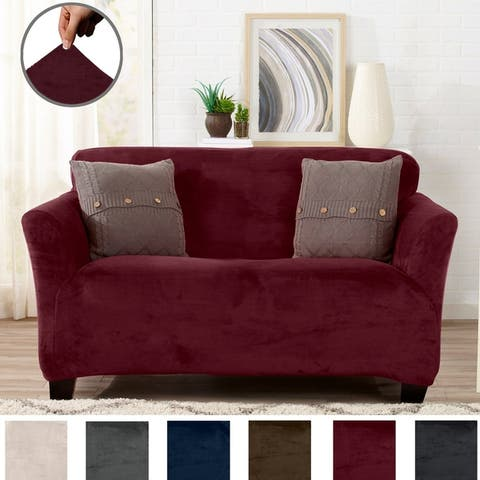 Buy Red Loveseat Covers & Slipcovers Online at Overstock | Our Best ...