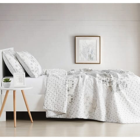 The Gray Barn Sleeping Hills Floral Cotton 3-piece Quilt Set