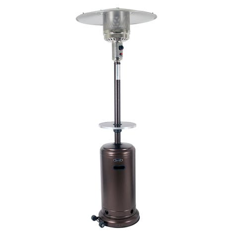 Deluxe Hammered Bronze Patio Heater and Bronze Table for Patio Heater