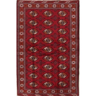 "Balouch Geometric Hand Knotted Wool Persian Area Rug - 6'2"" x 4'1"""
