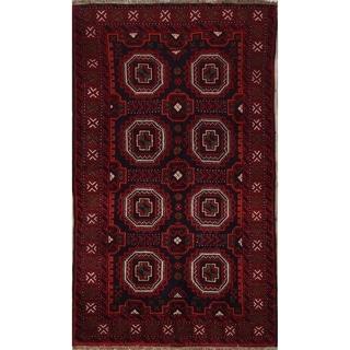 "Balouch Geometric Handmade Wool Persian Rug - 5'9"" x 3'4"" Runner"