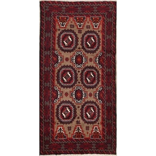 """Balouch Geometric Hand Knotted Wool Persian Area Rug - 7'0"""" x 3'5"""""""