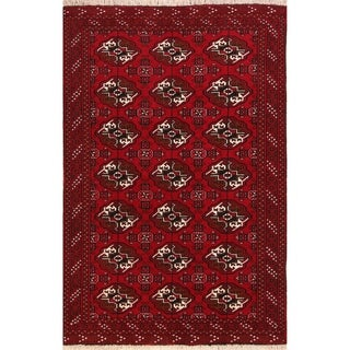 """Balouch Geometric Hand Knotted Wool Persian Area Rug - 6'3"""" x 4'2"""""""