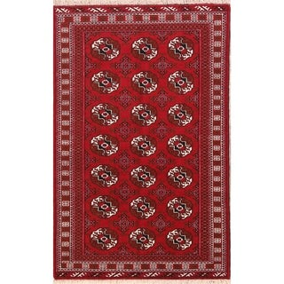 """Balouch Geometric Hand Knotted Wool Persian Area Rug - 6'6"""" x 4'4"""""""