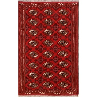"""Balouch Geometric Hand Knotted Wool Persian Area Rug - 6'6"""" x 4'2"""""""