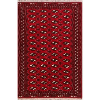 """Balouch Geometric Hand Knotted Wool Persian Area Rug - 6'2"""" x 4'2"""""""