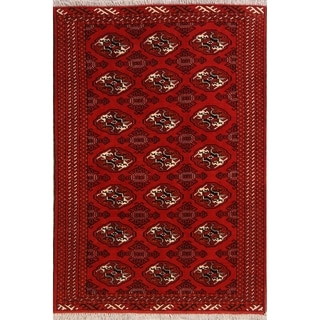 """Balouch Geometric Hand Knotted Wool Persian Area Rug - 6'3"""" x 4'4"""""""