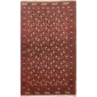 """Balouch Geometric Hand Knotted Wool Persian Area Rug - 6'4"""" x 3'9"""""""