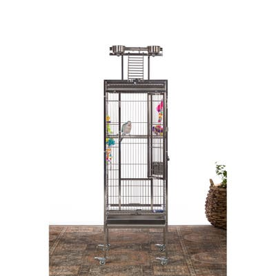 Prevue Pet Products Small Stainless Steel Playtop Bird Cage 3451