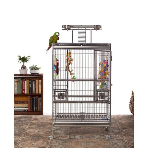 Prevue Pet Products Large Stainless Steel Playtop Bird Cage 3455