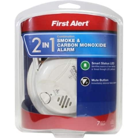 First Alert 2-in-1 Battery Photoelectric Smoke and Carbon Monoxide Alarm