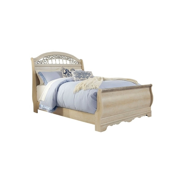 Catalina Antique White Queen Sleigh Bed. Opens flyout.