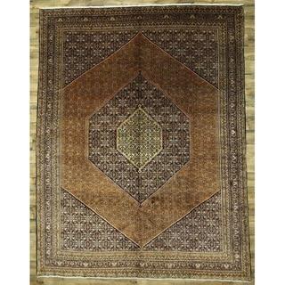 "Vintage Bidjar Hand Knotted Wool Persian Area Rug - 13'1"" x 10'1"""