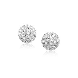 Link to 14k Yellow Gold Stud White Crystal Ball Earrings Similar Items in Children's Jewelry