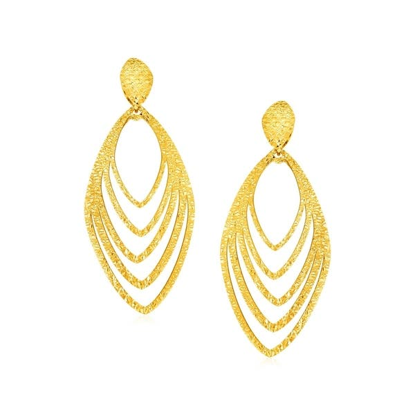 9fa712fd78c4f 14k Yellow Gold Post Earrings with Marquise Shapes
