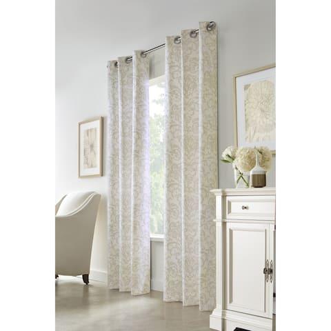 The Gray Barn Cattail Hollow Medallion Print Curtain Panel