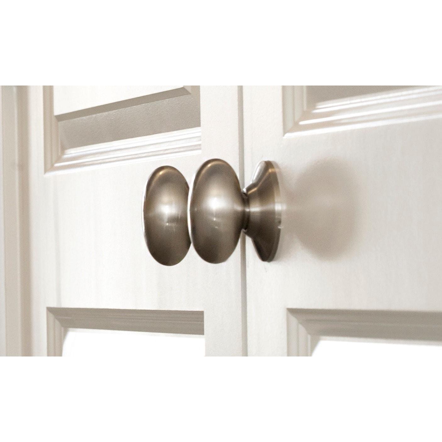 SURE-LOC Egg-Shaped Dummy Door Knob (set of 2) (Antique N...