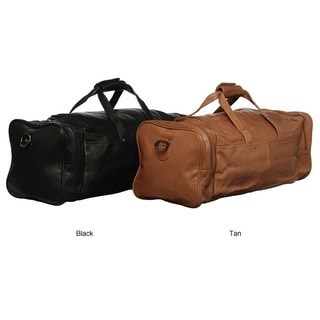 Royce Leather Top Grain Nappa 22-inch Carry On Duffel Bag