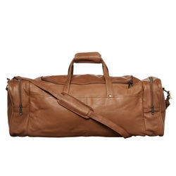 Royce Leather Top Grain Nappa 22-inch Carry On Duffel Bag - Thumbnail 1