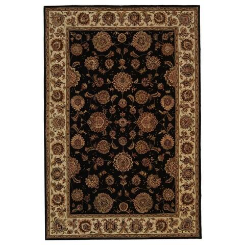 Safavieh Handmade Persian Court Traditional Plum / Ivory Wool Rug - 6' x 9'