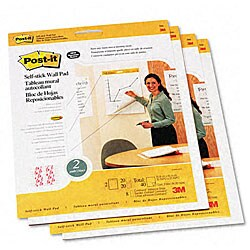 3M Self-Stick Wall Mount Pads - 20 Sheets/Pad (4 Pads/Carton)