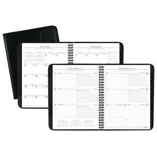 AT-A-GLANCE Executive Weekly/Monthly Appointment Book, 6 5/8 x 8 3/4, White, 2018-2019