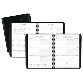 AT-A-GLANCE Executive Weekly/Monthly Appointment Book, 6 5/8 x 8 3/4, White, 2019