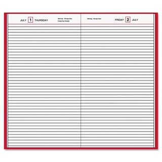 AT-A-GLANCE Standard Diary Daily Diary, Recycled, Red, 7 11/16 x 12 1/8, 2017