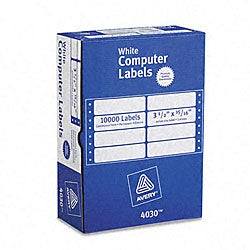 Avery Dot Matrix Printer White Addressing Labels - 15000/Box