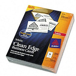 Avery Clean Edge Laser Business Cards