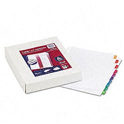 Avery Index Maker White Dividers - Multicolor 8-Tab Style  (5 Sets per Pack)
