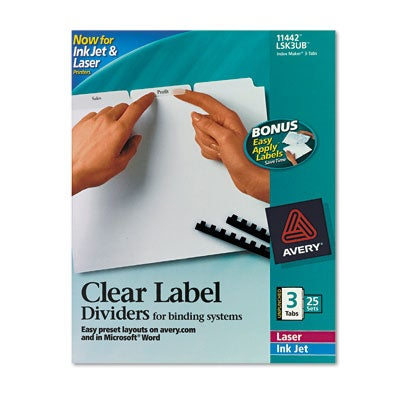 Avery 11442 Index Maker Clear Label Dividers