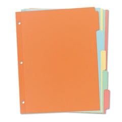 Avery 11508 Recycled Plain 5-tab Buff Dividers (Box of 36)