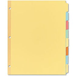 Avery 11509 Recycled Plain 8-tab Buff Salmon Dividers (Box of 24)