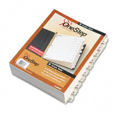 QuickStep Bulk Index System with Tab Titles - 24 Sets/Box