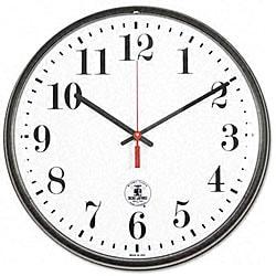 Black ATOMIC Slimline Wall Clock