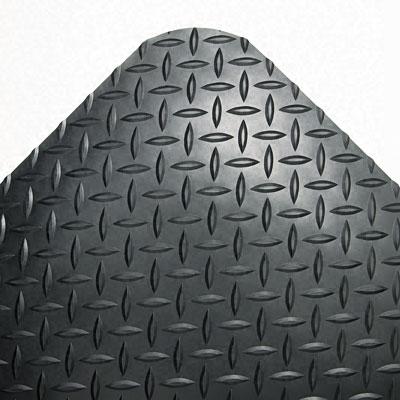 Industrial Deck Plate Black Antifatigue Mat (36 in. x 60 in.)