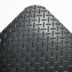 Shop Industrial Deck Plate Black Antifatigue Mat 36 In X