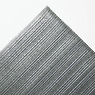 Ribbed Vinyl Grey Antifatigue Mat (36 in. x 60 in.)