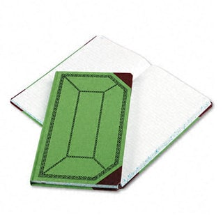 Boorum & Pease Record/Account Book, Record Rule, Green/Red, 300 Pages, 12 1/2 x 7 5/8